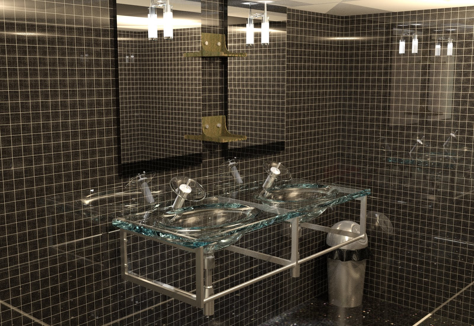Nest render nestor de almeida lavamanos de vidrio para for Lavamanos de cristal