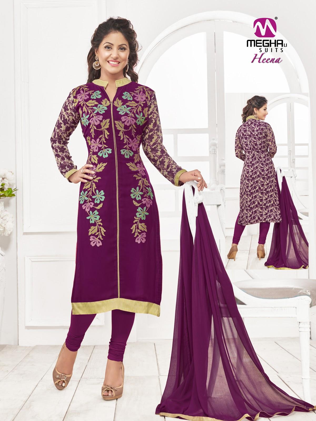 Heena – Light Embroidered Churidar Salwar Suit