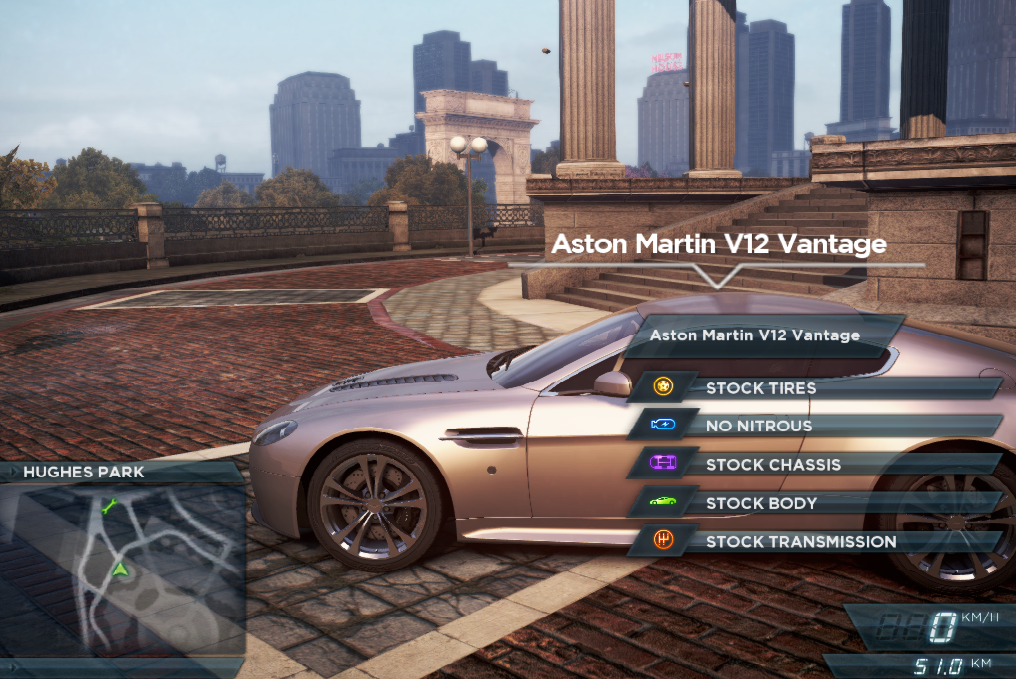 need for speed most wanted car locations aston martin v12 vantage