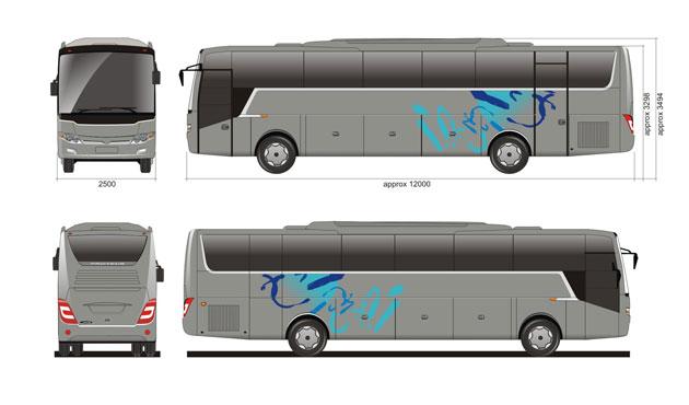New Proteus by Laksana Intercity Bus