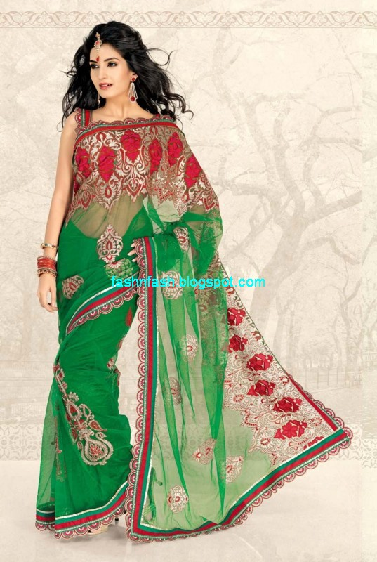 Saree Designs Lehanga Choli Style Embroidered Bridal Party Wear Sari New Fashion Clothes Ooooch