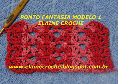 Vídeo Aula Crochê - Ponto Fantasia Modelo 1 do Elaine Croche