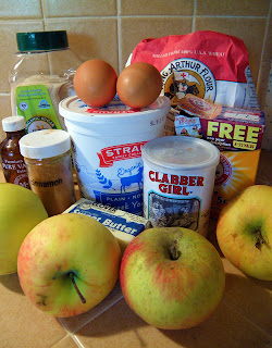 All Ingredients for Apple Cake