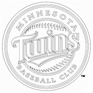 Escudo de los Twins de Minnesota para colorear
