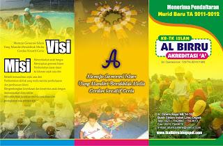 Contoh Brosur Sekolah TK Taman Kanak Kanak