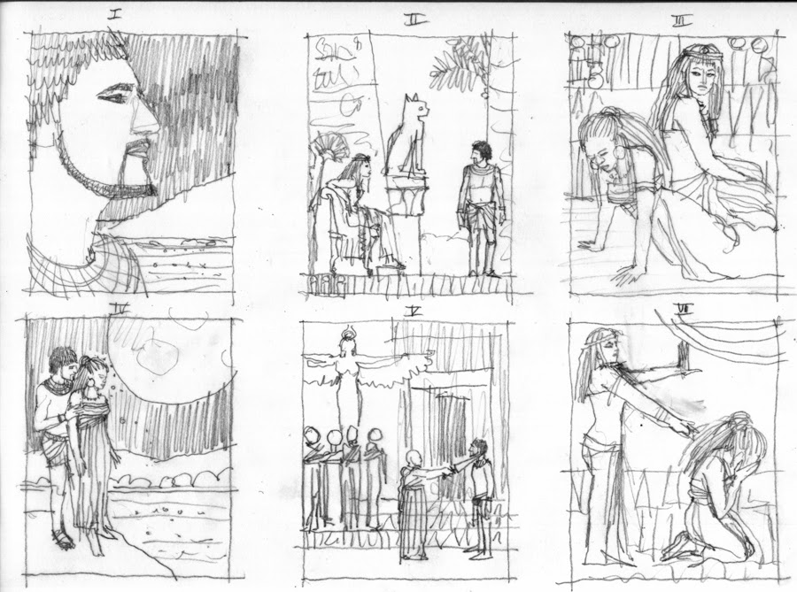 Storyboard 1. Aida di Monica Auriemma. Children's Book Illustration
