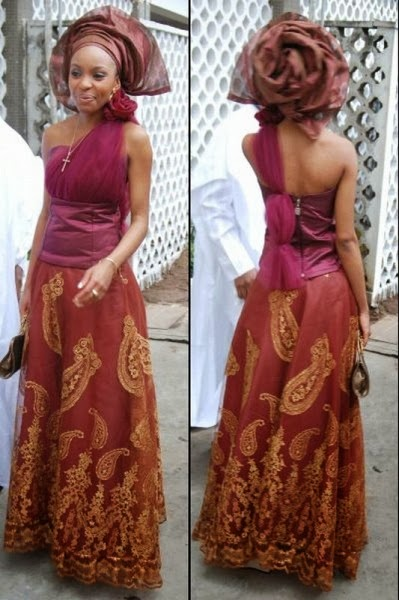 Nigeria Ankara Fashion Style Wedding Aso Ebi Dezango