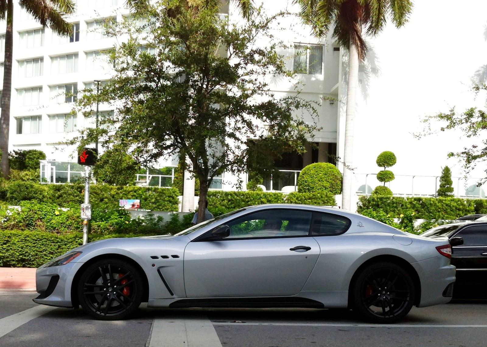 Awesome Silver / Gray Maserati GranTurismo Sport With Black Rims