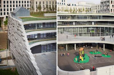 Зеленая школа в Париже с оригинальной архитектурой