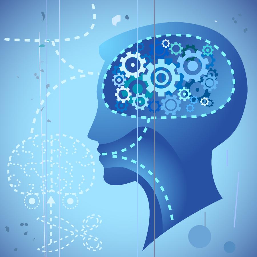 潜在意識の思考プロセスを表現したクリップアート subconscious thought process vector イラスト素材