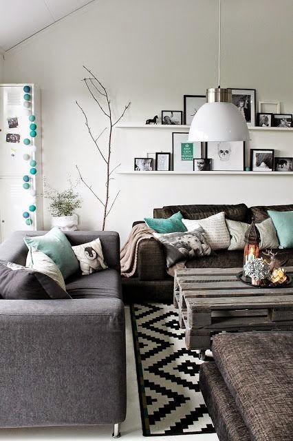 10 salas modernas irresistibles para inspirarse for Monochrome living room ideas
