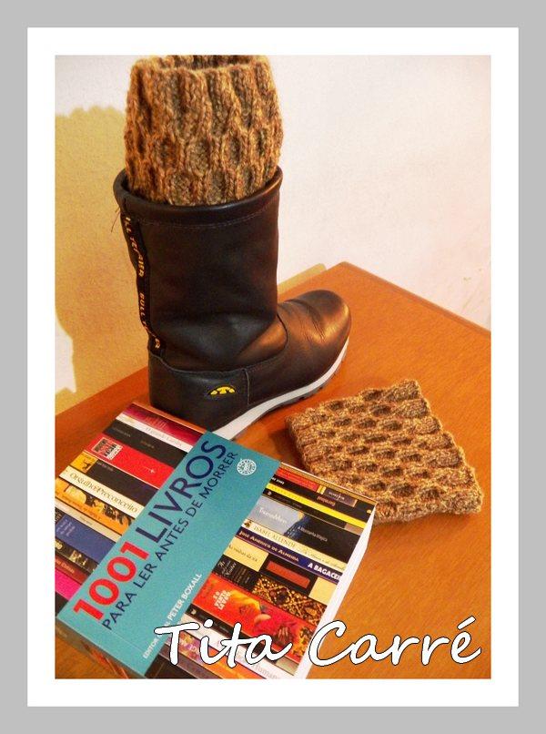 Boots cuffs em ponto Elo em tricot