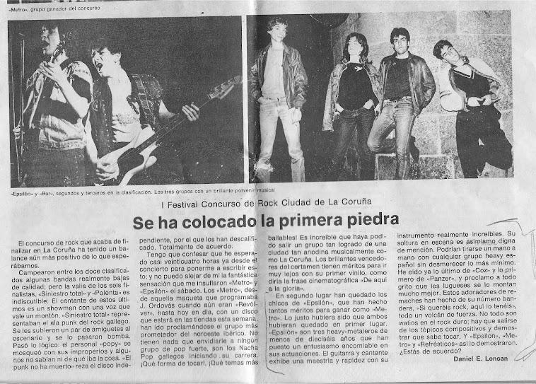 La Voz de Galicia (viernes, 16 de julio de 1982):