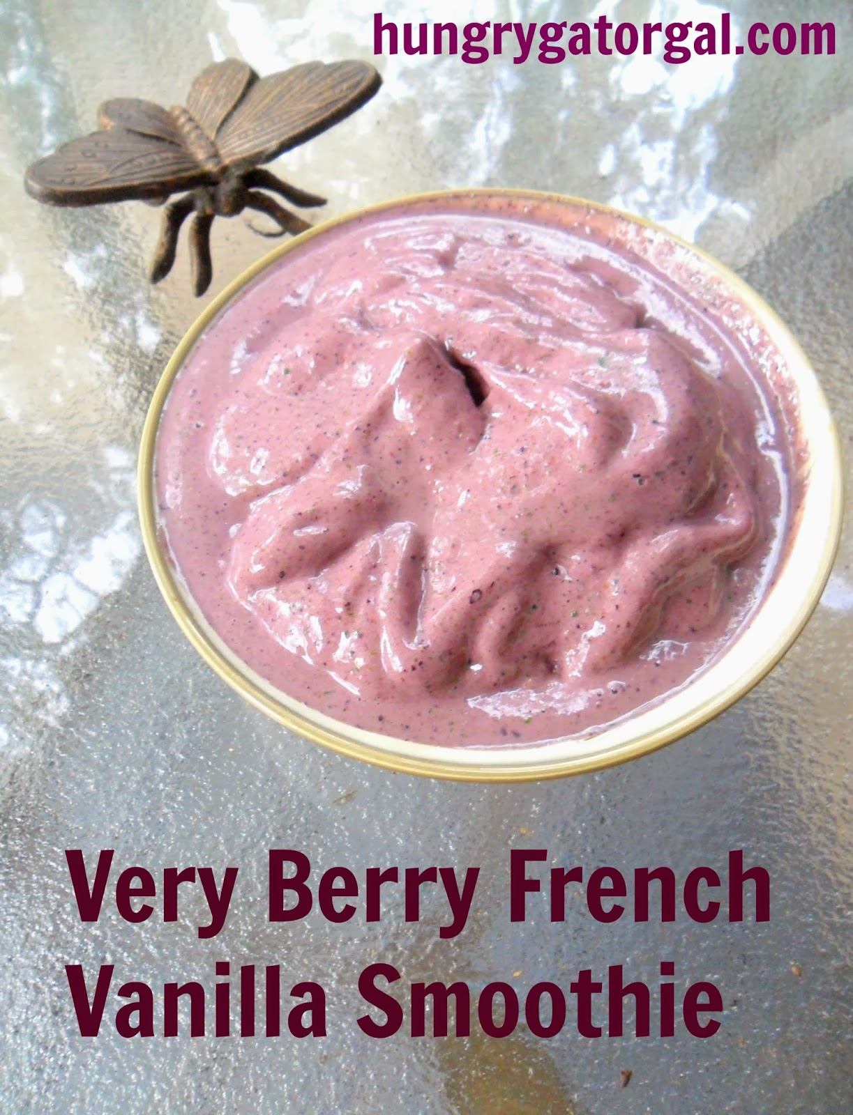Very Berry French Vanilla Smoothie from Hungry Gator Gal #OneChange #VegaOne