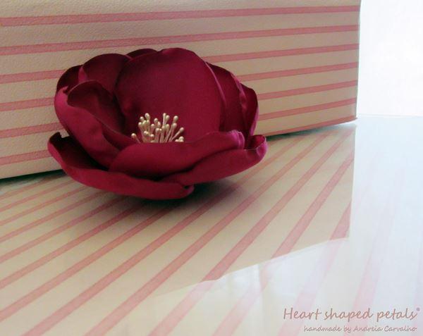 bridal hair accessory pink fuchsia flower