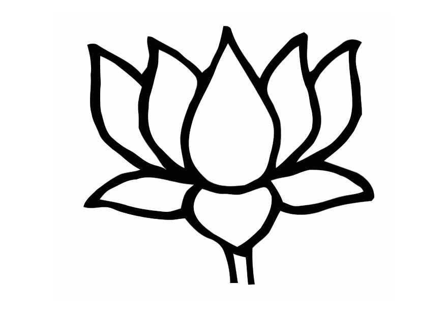 lotus flower coloring pages - photo#14