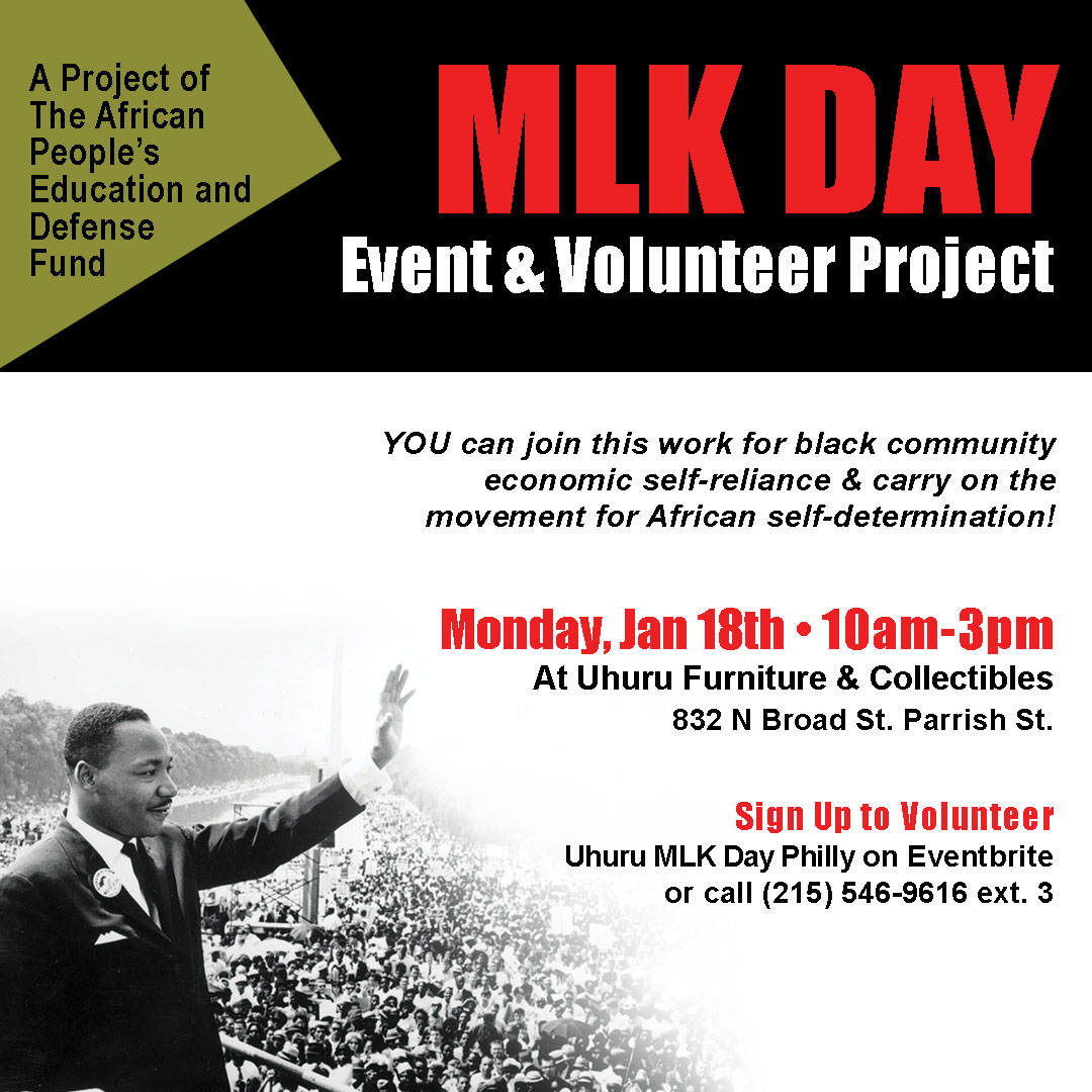 2021 MLK Day Event & Volunteer Project