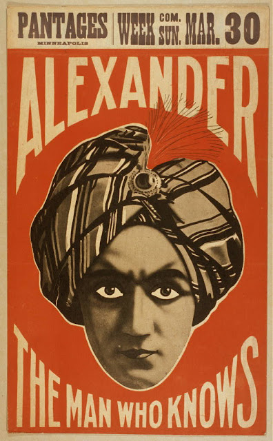 theater, movies, circus, magic, vintage, vintage posters, retro prints, classic posters, free download, graphic design, Alexander The Man Who Knows, Pantages Minneapolis - Vintage Magic Theater Poster