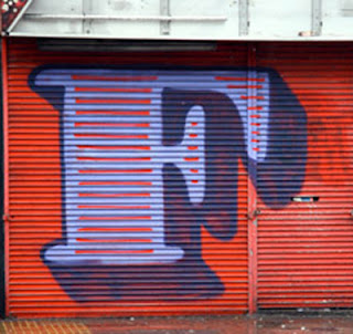 Letter F on Graffiti alphabet art