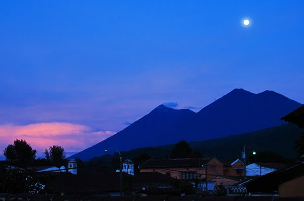 Moonrise Over Acatenango