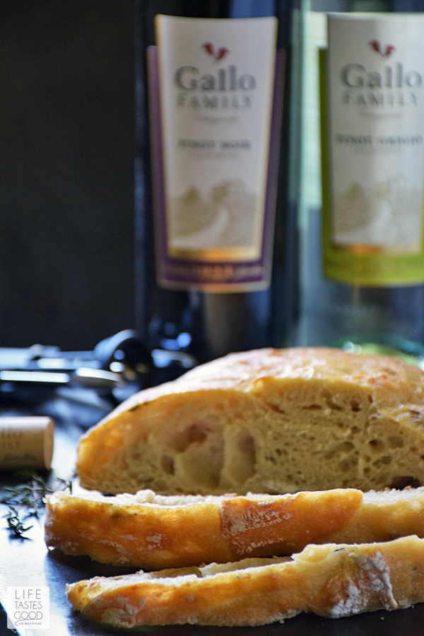 Crusty Artisan Style Bread | by Life Tastes Good has a wonderfully tangy flavor with a crispy outside and soft, chewy inside. With this no-knead recipe, it's easy to craft homemade bread just like the bakery! Makes a lovely hostess gift with a bottle of wine, and it's perfect for Thanksgiving! #LTGrecipes