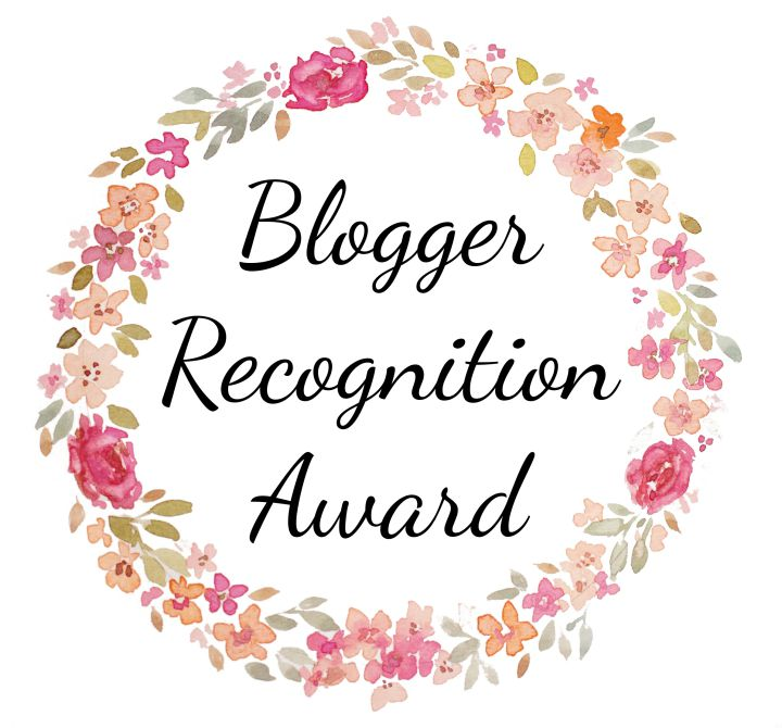 BLOGGER RICOGNITION AWARD