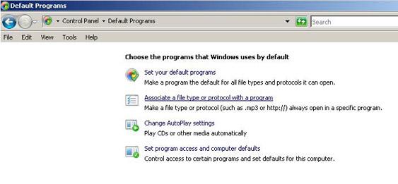 associate a program file for mailto client choozurmobile