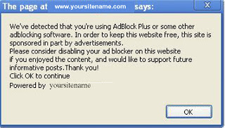 Cara Pasang Kode Script Anti Adblock di Blog