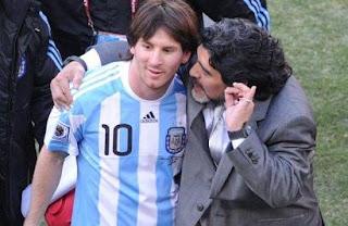 messi, maradona, argentina