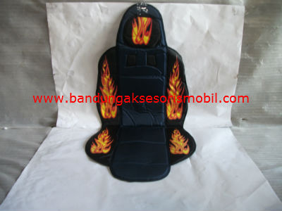 Sandaran Jok Medium Fire (Biru/Hitam)
