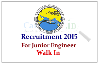 Indian Institute of Tropical Meteorology (IITM) Recruitment 2015 for the Junior Engineer