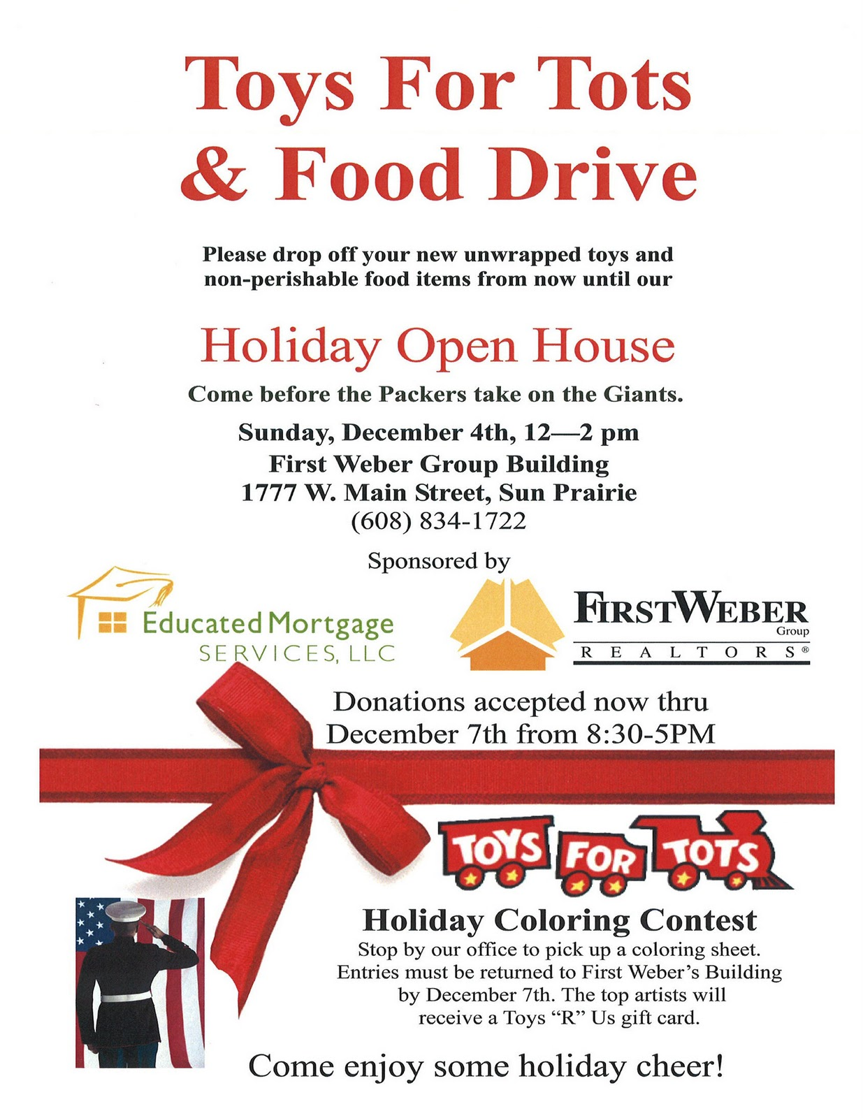 Toys For Tots Food : Economic development news for sun prairie wisconsin