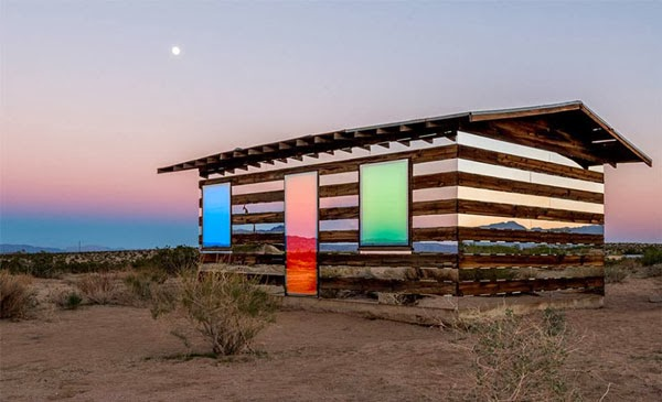 kaleidoscope art house in desert