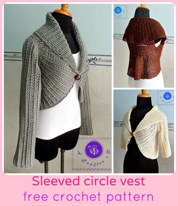 crochet vest with sleeves