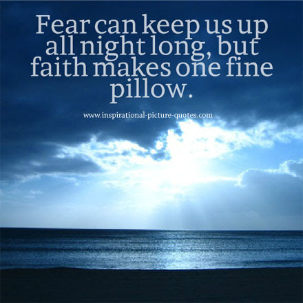 fear can keep us up inspirational picture quotes