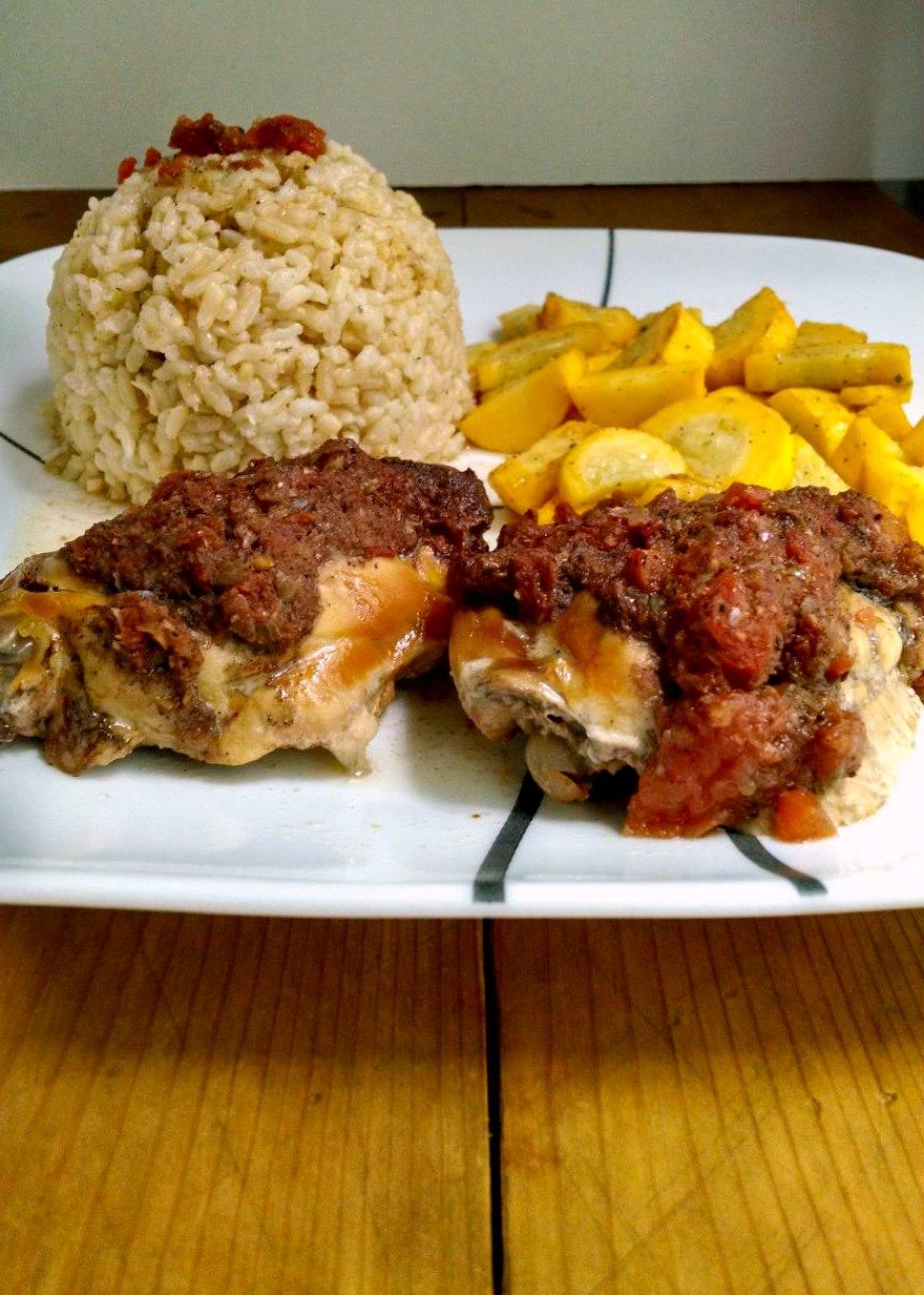 Sew Crafty Angel: Slow Cooker Jerk Chicken Thighs