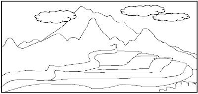 model gambar sketsa sebelum diwarnai oleh anak model gambar sketsa