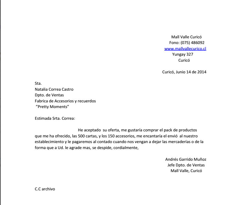 carta de pedidos mega secretarios carta de pedido