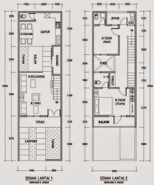 contoh denah rumah minimalis 2015 terbaru gambar rumah