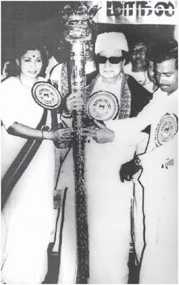 MGR & Jayalalitha in AIADMK Party Function