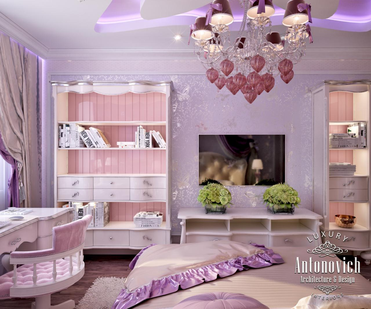 Luxury Antonovich Design Uae Pink Girly Bedroom From