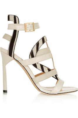 Jimmy Choo black and white high heeled sandals
