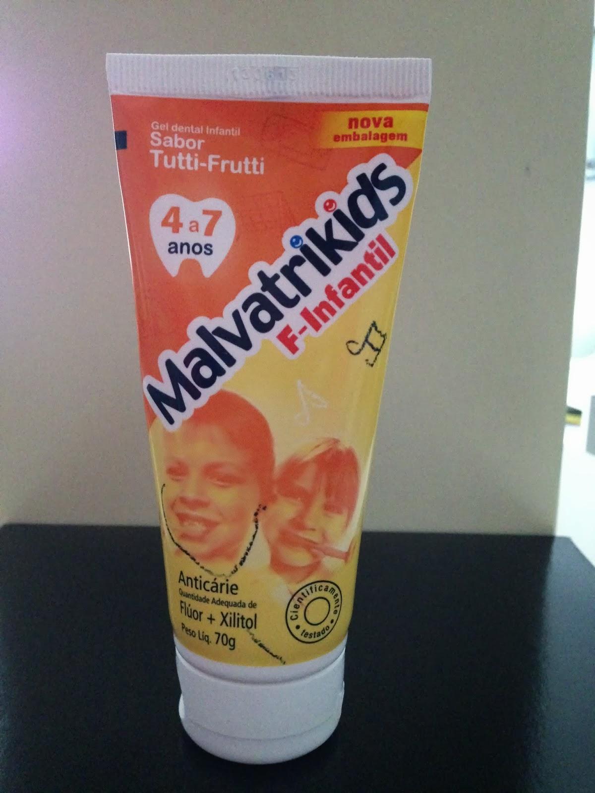 laboratório daudt malvatrikids f-infantil gel dental infantil de quatro até sete anos