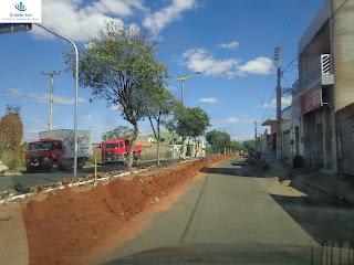 Obras de esgotamento sanitário em Juazeiro.