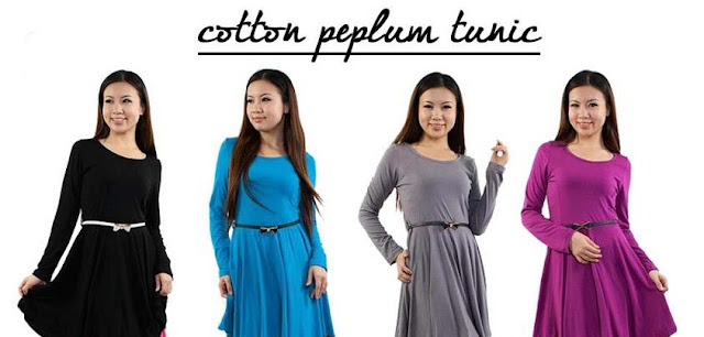 cotton peplum tunic 2013