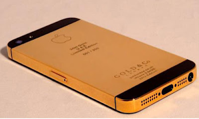 first iphone 5 gold plated