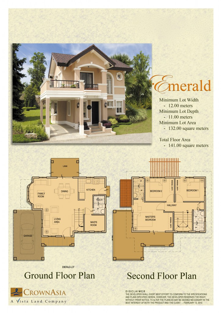 Camella homes floor plans design joy studio design for Emerald homes floor plans