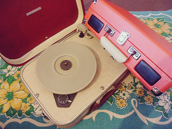 Crosley Cruiser record player and 1960s vintage player