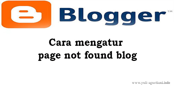 cara mengatur page not found blog