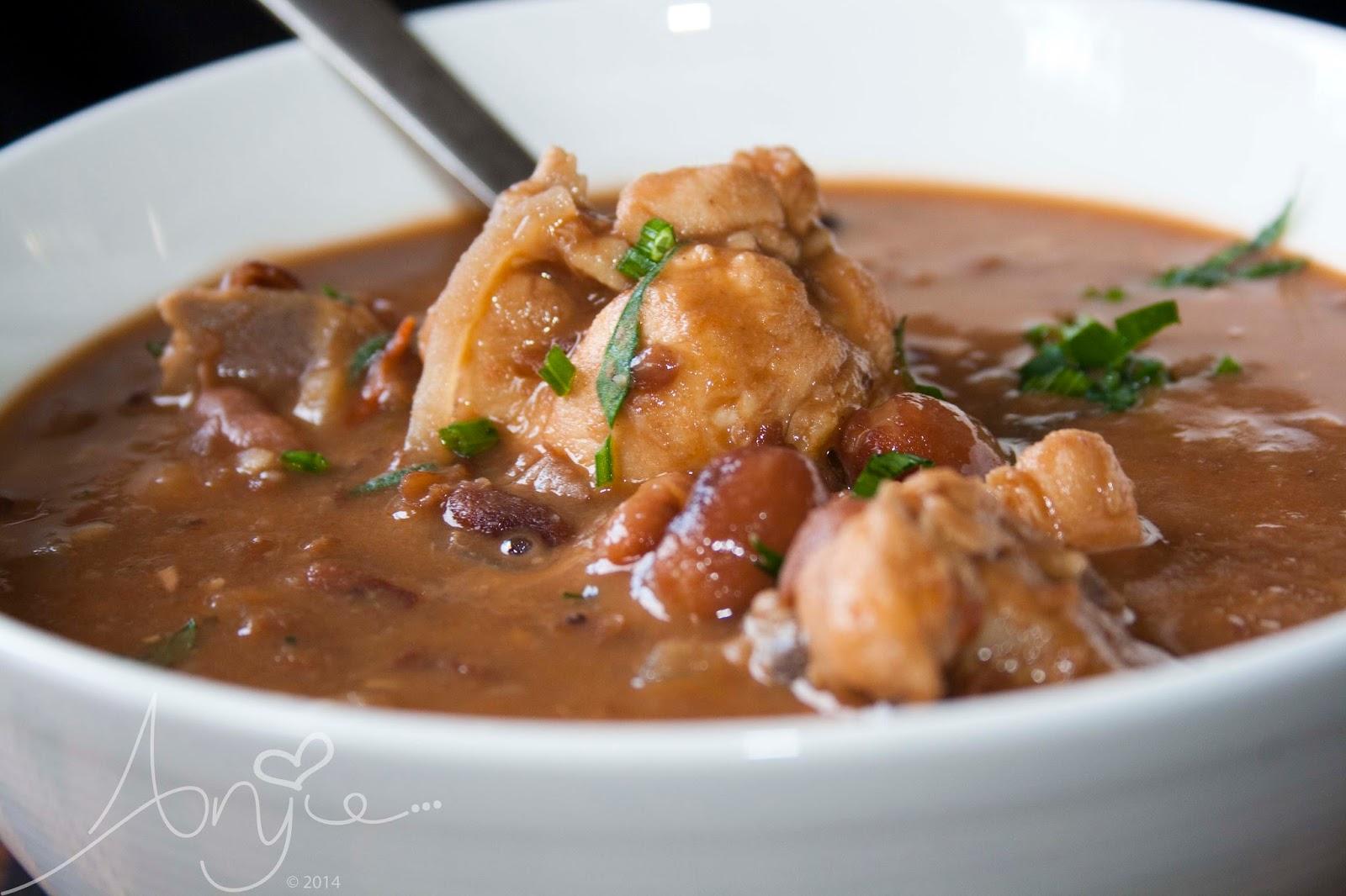 Surinames brown bean soup, bruine bonen soep, recept